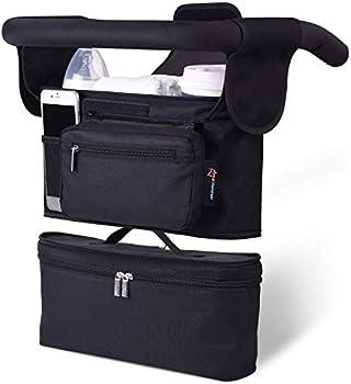 Momcozy 2-in-1 Stroller Organizer Holders & Insulated Baby Bottle Bag
