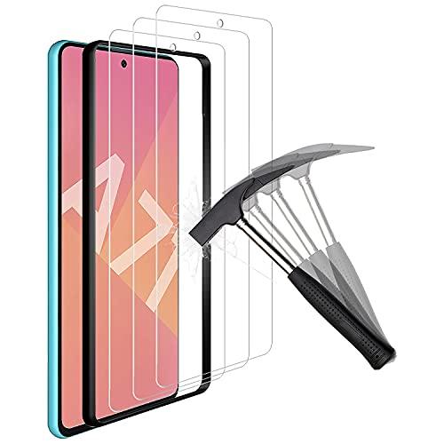 ANEWSIR 3 Piezas Protector de Pantalla para Samsung Galaxy a71/a71 5G/A Quantum,Cristal Templado de Resistente a Arañazos 9H Dureza Cristal Vidrio Templado Protector para Samsung Galaxy A71 🔥