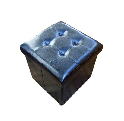 holzfuerkinder Sitzkiste Noire rembourrée, Tabouret, zauber-Tabouret de Rangement, Petit Cube : 38 x 38 x 38 cm