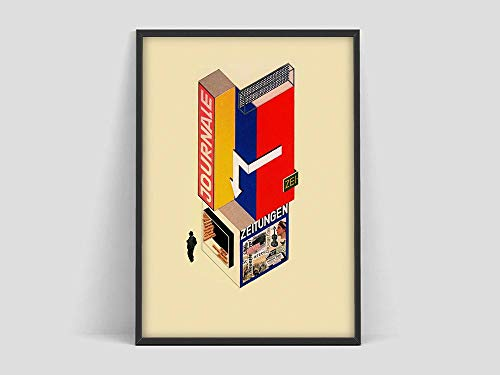 Póster de diseño de quiosco de autoservicio Bauhaus,Weimar 1923,impresión de exposición Bauhaus,periódicos Bauhaus,pintura decorativa sin marco familiar de impresión Bauhaus A42 30x40cm 🔥