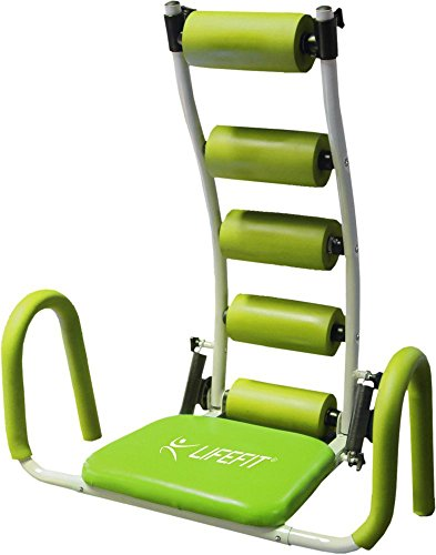LIFEFIT Ab Effect, Abdominal Trainer Unisex – Adulto, Verde Chiaro, 65 x 37 cm