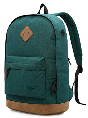 936Plus Wasserabweisender Rucksack Laptop Büchertasche für Schule, Hochschule, Uni, mit 12 Taschen, Blaugrün