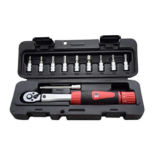 """Meroteen 1/4""""DR 2-24Nm Juego de llaves de torque para bicicletas Juego de herramientas de reparación de bicicletas Llave de torsión mecánica Llave manual"""
