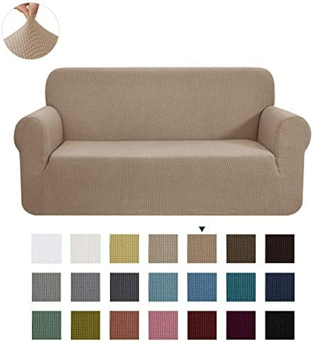 Best CHUN YI Stretch Loveseat Sofa Slipcover 1-Piece Couch Cover Furniture Protector, 2 Seater Coat Soft