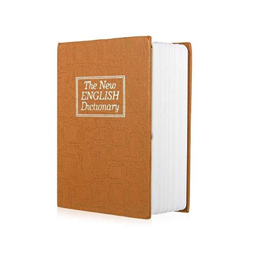 Mousyee Caja Fuerte de Diccionario, Caja de Seguridad en Forma de Libro Caja Fuerte para Libros de Diversión Caja de Almacenamiento Pequeña Adecuada para Cosas Personales (Amarillo)