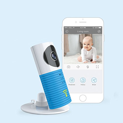 JTD Smart Wireless IP WiFi DVR Security Surveillance Camera with Motion Detector Two-Way Audio & Night Vision Best Security Camera Baby Monitor for Your Baby,Home, Pet or Business (Blue)