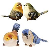 XIMING 4個の人工シミュレーション装飾羽鳥モデル家の装飾