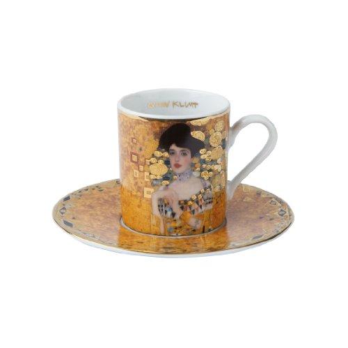 Goebel 66515685 Gustav Klimt Espressotasse mit Untertasse Adele Bloch-Bauer