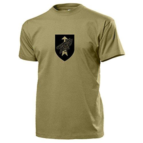 A595 DSO DSK Division Schnelle Kräfte Bundeswehr Division - T Shirt #13586, Farbe:Sand, Größe:Herren M