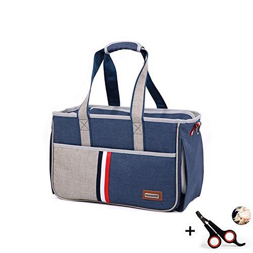 Haustiere Transporttasche Oxford Gewebe Tragbar Atmungsaktiv Dauerhaft Kapazität Geeignet für Reisen und Outdoor-Sportarten Zwei Größen,L