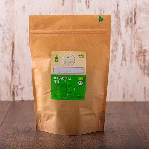 süssundclever.de® Bio Kokosraspeln | 750g | Rohkostqualität | ungezuckert und 100% naturbelassen | plastikfrei und ökologisch-nachhaltig abgepackt | geraspelte Kokosnüsse