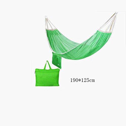 Hamac Hamac Outdoor hamac de camping hamac de montagne hamac de montagne hamac de polyester hamac de polyester hamac portable (sac de rangement * 1), (190 * 125cm)