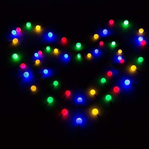 FANPING 50 de iluminación LED solar al aire libre luces de cadena 22.3FT Globe luces multicolor 2 Modos Orbe de cubierta, jardín, Hogar, Patio, césped, partido y decoraciones de vacaciones