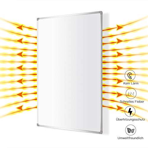 Infrarotheizung Heizkörper 600 Watt Elektroheizkörper Wasserdicht mit Stecker Infrarot Heizung Überhitzungsschutz 10 Jahre Garantie 620 x 1020 mm,Heizkörper mit TÜV Weiß MEHRWEG MICRO ENERGY SOLUTIONS