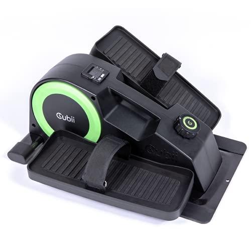 CubiiJR2 Seated Under Desk Ellipticalfor Home Workout,NewQuiet,Lightweight Pedal Bike Exerciser withAdjustable Resistance& Foot Straps, LCD Display, Mobile App