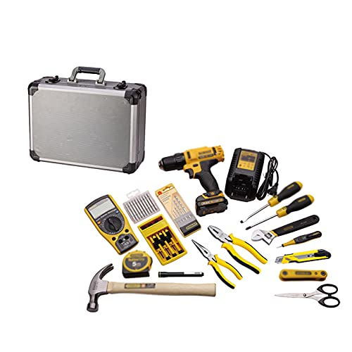 tool kit with tools 42-piece Household Tool Box Set Multifunctional Hardware Tool Combination Electrician Repair Tool with Rechargeable Lithium Electric Drill Household small tool kit