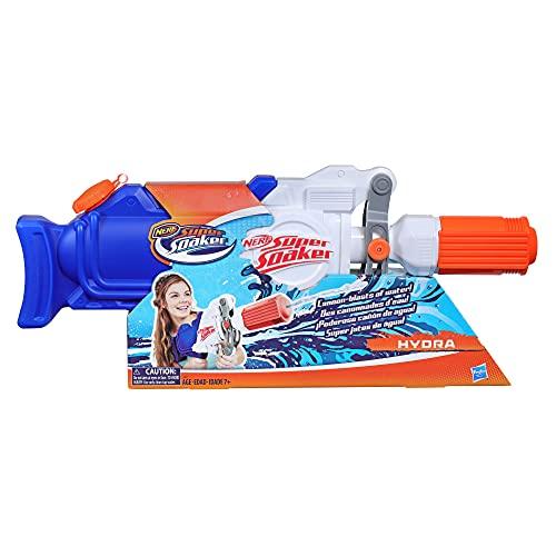 Super Soaker Hasbro E2907EU4 Hydra, Wasserpistole mit ca. 1,9 Liter Wassertank, Multicolor