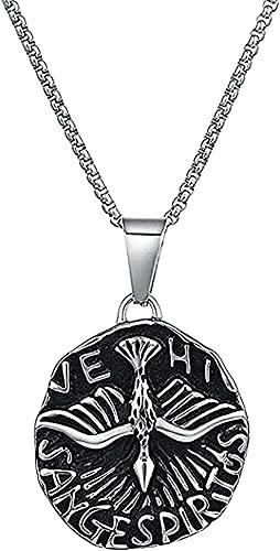 ZPPYMXGZ Co.,ltd Collar Collar Punk para Hombre Collar Colgante Collar Vintage de Acero Inoxidable Collar Colgante Chica Joven Regalos