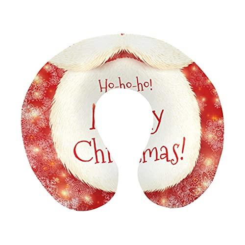 Linda Barba de Papá Noel con Cartel de Feliz Navidad, Rojo, en...