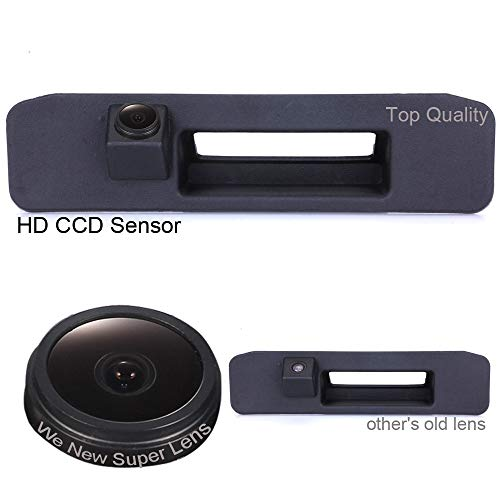 HDMEU Poignée de coffre étanche 170 ° réversible avec caméra intégrée dans le boîtier pour Mercedes Benz GLK ML M Classe C X204 W166 W205 GLA200 GLK200 GLK200 GLK260