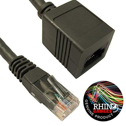 rhinocables Ethernet RJ45 Verlengkabel CAT5e CAT6 Netwerk Internet Extender Mannelijk naar Vrouwelijk Patchkabel Connecter UTP 3m CAT6