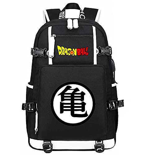 ZZGOO-LL Dragon Ball Anime Mochilas Moda Viaje Mochila Informal Negocios Universidad USB Unisex-A