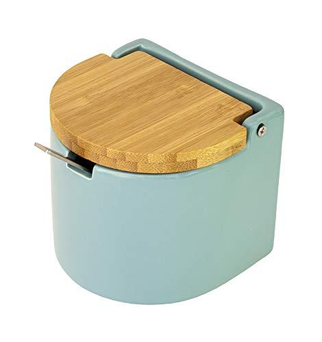 KOOK TIME – Azucarero cerámica con Tapa de bambú y Cucha