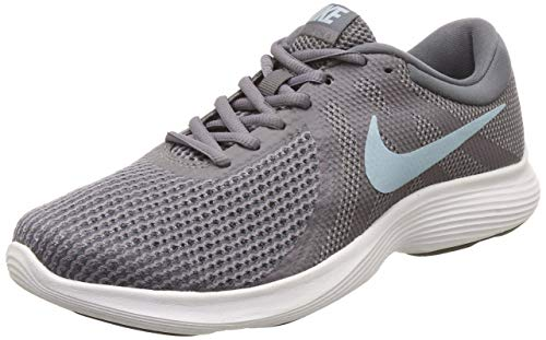 Nike Womens arevolution 4 Low Top Lace Up Running Sneaker, Grey, Size 9.0