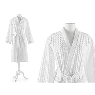 Peacock Alley Waffle Bath Robe, Small, White