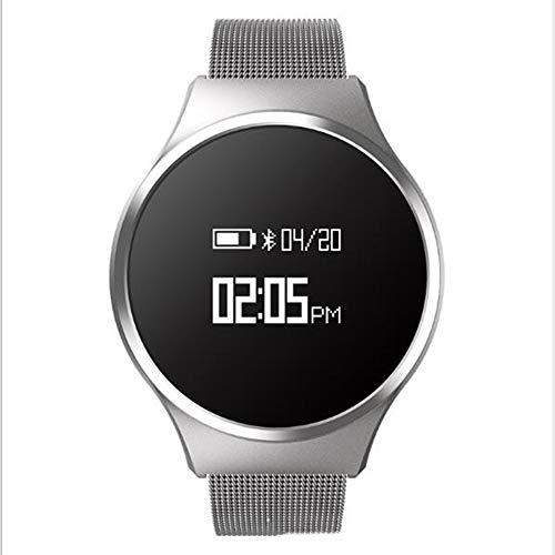 Pulsera De Actividad TA68 Reloj Inteligente,Pantalla Táctil Impermeable Smart Watche Hombres Mujeres Niños Monitor De Sueño Pulsómetros Monitor Reloj De Contador De Pasos Plata 0.66 Pulgadas