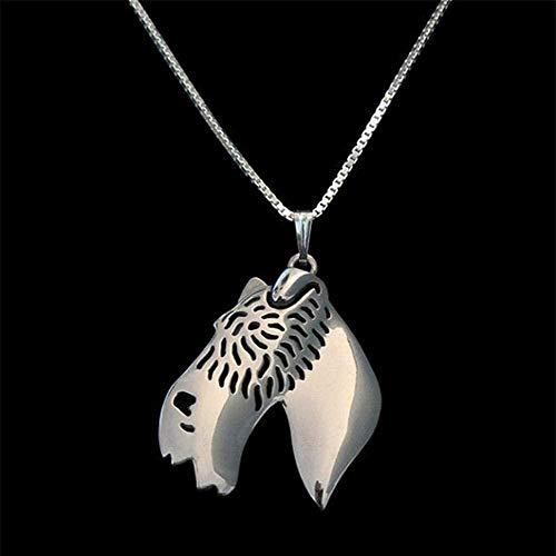 NC190 Collares de aleación de Fox Terrier Peludo Collar de Perro de Mascota de Metal para Mujer