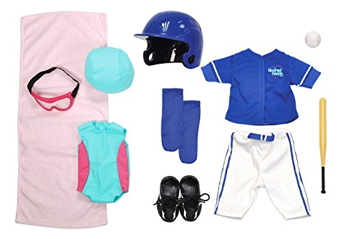 Kindred Hearts Dolls 18' Baseball + Swimming Set (Amazon Exclusive)