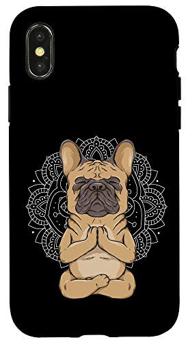 iPhone X/XS Frenchie Meditation French Bulldog Spirituality Cute Animal Case