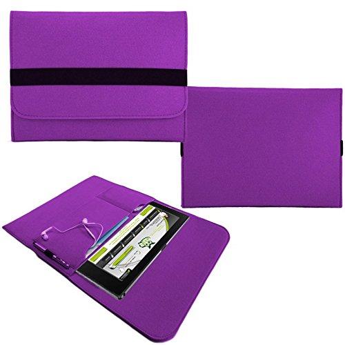 NAUC Tasche Hülle für Blaupunkt Endeavour 101M 101L Schutzhülle Sleeve Filz Tablet, Farben:Lila