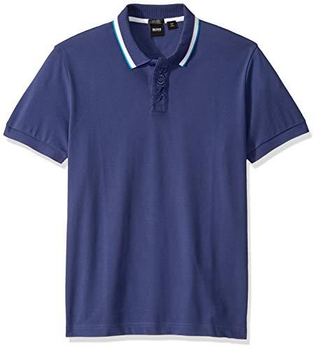 Hugo Boss Herren Paddy Short Sleeve Polo Shirt Poloshirt, Marineblau/Weiß/Aqua, X-Groß