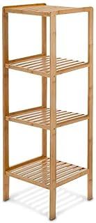 Relaxdays 10013497 Estantería bambú para baño, 4