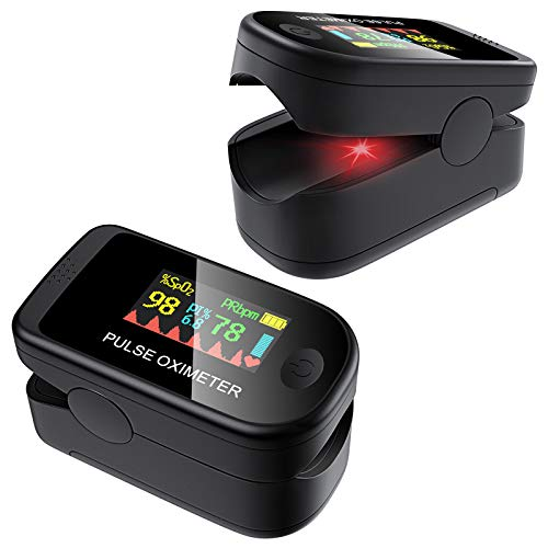 SOYES Oxímetro de pulso Pulsioxímetro de Dedo Digital con Pantalla OLED de SpO2,Oxímetro de dedo para medir la saturación de oxígeno en la sangre