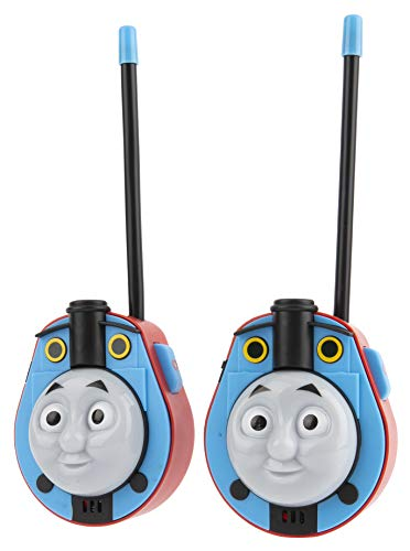 Thomas and Friends Molded Walkie Talkies for Kids WT2-01082   Safe and Flexible Antenna, 1000ft Range, Easy-to-Use Power Switch, Belt Clip, Pack of 2, Stylish Appearance, 2-Pack