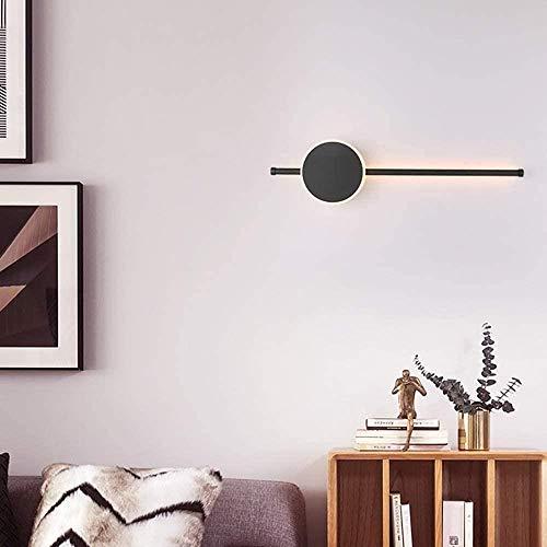 Lampe Murale Mur Bright Light Strip Individuel Mur Lampe Moderne Escalier Minimaliste Aisle Lumières Chambre Lampes de Chevet (Color : Black, Size : D60cm)