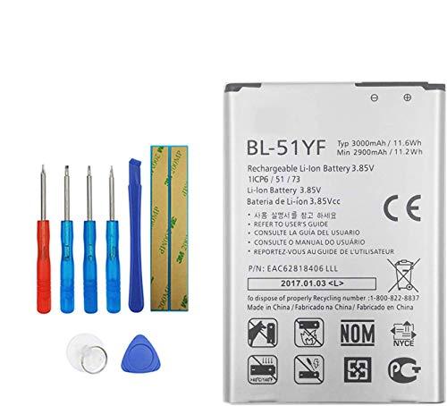 Upplus BL-51YF Batterie de rechange compatible avec LG G4 H810 H812 LS991 VS986 2900 mAh 3,85 V avec kit d'outils