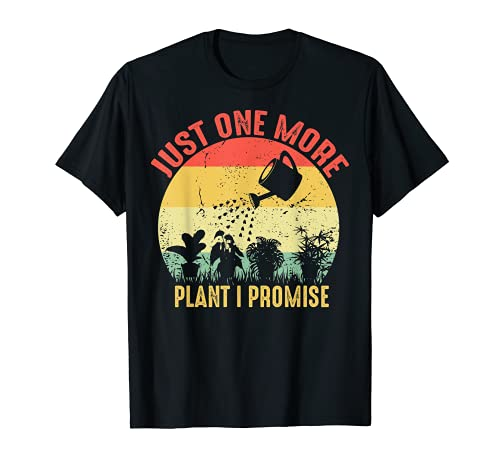 Vintage Just One More Plant I Promise Cactus Suculentas Regalo Camiseta