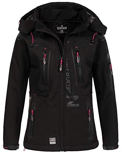 Geographical Norway Damen Softshell Outdoor Jacke Black M