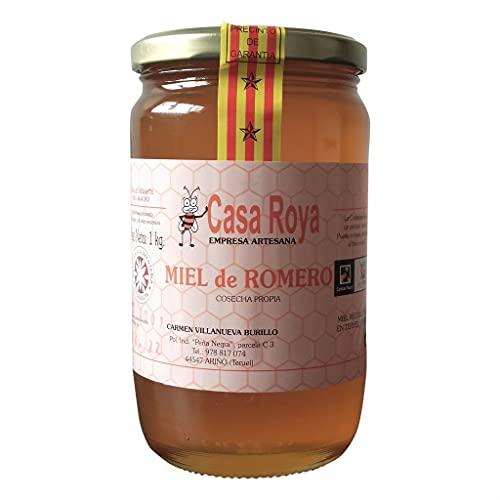 Miel de abeja Romero,Cruda y Pura 100% Natural,Origen Teruel ESPAÃ'A-Cosechada Recientemente .1Kg (500 Gr)