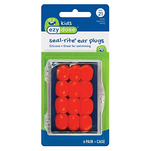 Flents Protechs Seal-Rite Kids Silicone Ear Plugs for Pool,...