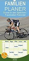 Sonne in den Speichen - Faszination Rennrad - Familienplaner hoch (Wandkalender 2022 , 21 cm x 45 cm, hoch): Auf schmalen Laufraedern sportlich durch das Jahr (Monatskalender, 14 Seiten )