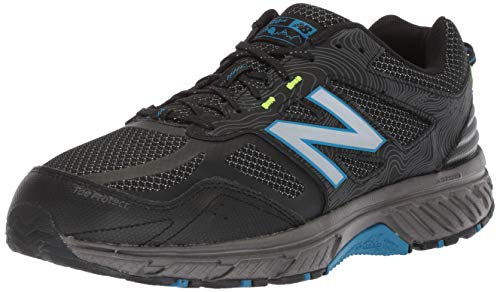 New Balance Men's 510v4 Cushioning Trail Running Shoe, Magnet/Black/Reflective, 7 4E US