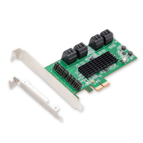 IO CREST SI-PEX40071 SATA III 8 Port Controller Card PCE-e 2.0 x2 with Low Profile Bracket
