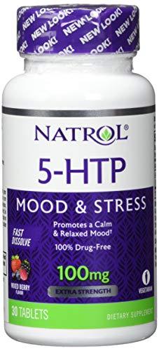 Natrol 5-HTP 100 mg Fast Dissolve (30) Standard, 15 g