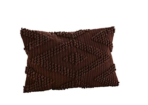 Madam Stoltz kussensloop Ethno bruin Afmeting: 40x60cm / 100% katoen/katoen/shabby chic/gebreid patroon