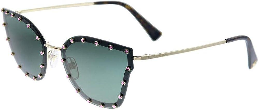 Valentino, occhiali da sole per donna, montatura in metallo, lenti verdi VA2028